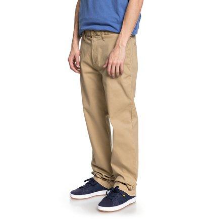 Купить Брюки-чинос Worker 32 - Коричневый, DC Shoes, 98% хлопок, 2% эластан