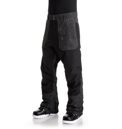 Сноубордические штаны AsylumMilitary-influenced tactical styling with mixed fabrication and a modern, drop crotch design.<br>