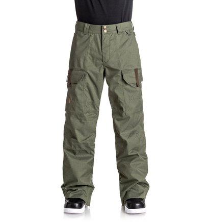 Купить Сноубордические штаны Code - Зеленый, DC Shoes, 100% полиэстер
