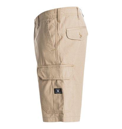 Ripstop Cargo ShortsМужские шорты Ripstop Cargo от DC Shoes. <br>ХАРАКТЕРИСТИКИ: суперпрочный хлопок Ripstop, свободный крой, карманы-карго, ширинка на молнии. <br>СОСТАВ: 100% хлопок.<br>
