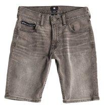 Worker Straight Denim Shorts Grey Boy  EDBDS03000