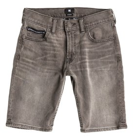 Worker Straight Denim Shorts Grey Boy  EDBDS03000