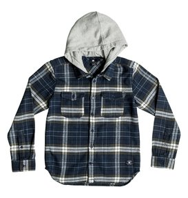 Runnels Flannel - Hooded Long Sleeve Shirt  EDBWT03018