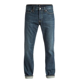 Washed Dark Stone Rigid - Straight Fit Jeans  EDYDP03266
