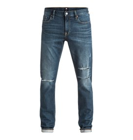 Medium Stone Destroyed - Slim Fit Jeans  EDYDP03271