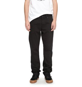 Worker Black Rinse Straight - Relaxed Fit Jeans  EDYDP03337