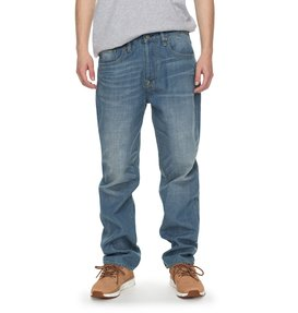 Worker Light Indigo Bleach Relaxed - Relaxed Fit Jeans  EDYDP03342