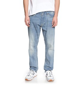 Worker Light Indigo Blue - Straight Fit Jeans  EDYDP03354