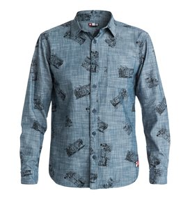 Cliver Woven - Long Sleeve Chambray Shirt  EDYWT03055