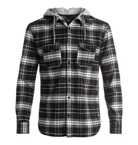 Runnels Flannel - Hooded Long Sleeve Shirt  EDYWT03111