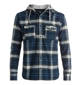 Runnels Flannel - Hooded Long Sleeve Shirt  EDYWT03111