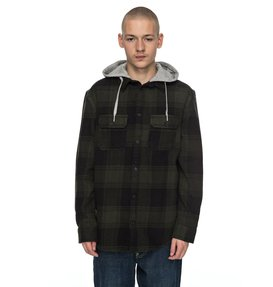 Runnel Flannel - Long Sleeve Hooded Shirt  EDYWT03162