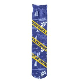 Blue Iris - Printed Crew Socks  PS006892A