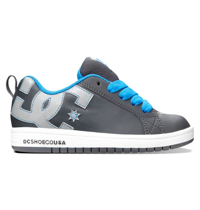 0 Boy's 4-7 Court Graffik Shoes Grey 300504A DC Shoes