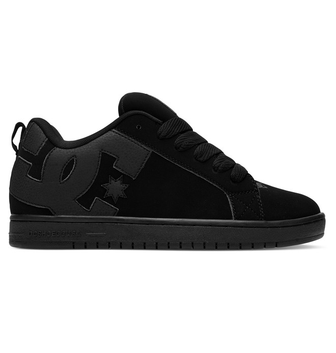0 Men's Court Graffik Shoes Black 300529 DC Shoes
