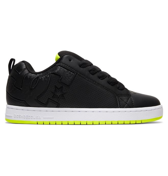 0 Men's Court Graffik Shoes Grey 300529 DC Shoes