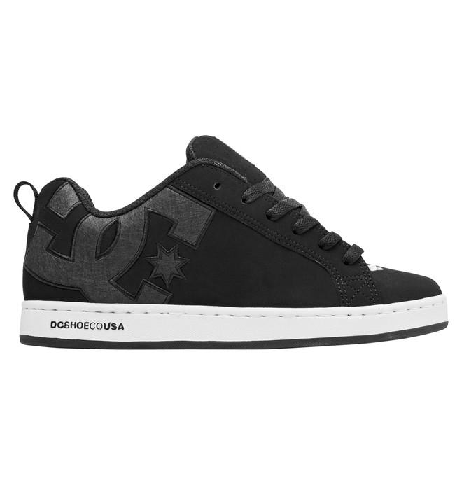0 Women's Court Graffik Shoes Black 300678 DC Shoes