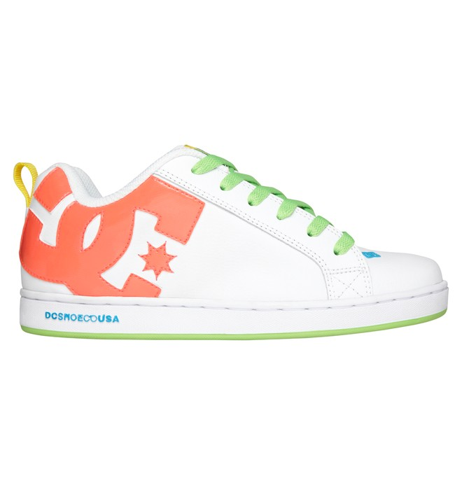 0 Women's Court Graffik Shoes White 300678 DC Shoes