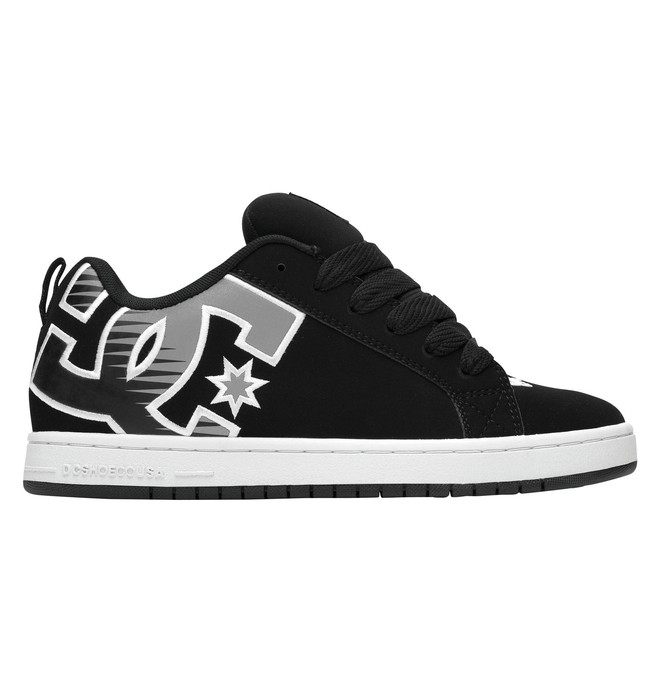 0 Men's Court Graffik SE Shoes Black 300927 DC Shoes