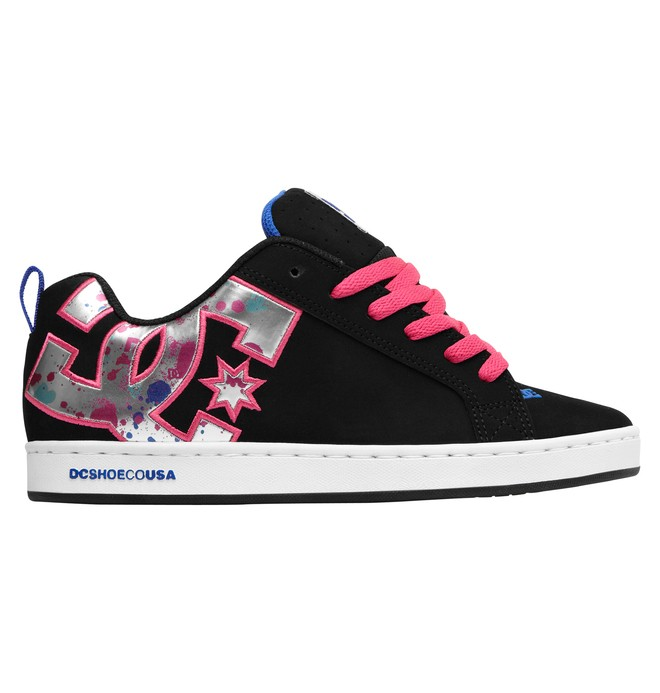 0 Women's Court Graffik SE Shoes Black 301043 DC Shoes