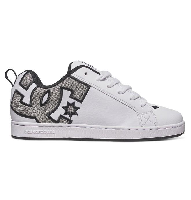 0 Women's Court Graffik SE Shoes White 301043 DC Shoes