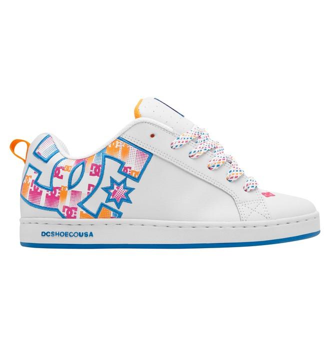 0 Women's Court Graffik SE Shoes Orange 301043 DC Shoes