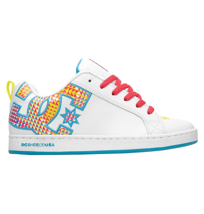 0 Women's Court Graffik SE Shoes White 301043 DC Shoes