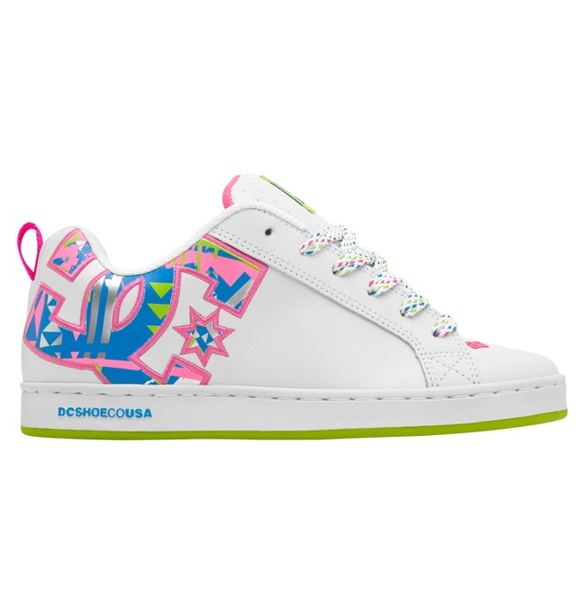 0 Women's Court Graffik SE Shoes Pink 301043 DC Shoes