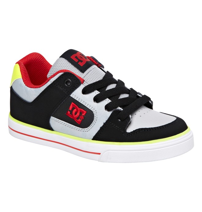 0 Boy's 8-16 Pure Shoes Grey 301069B DC Shoes