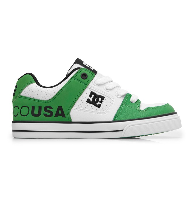 0 Boy's 8-16 Pure Shoes White 301069B DC Shoes