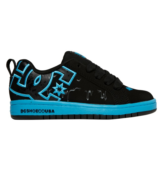 0 Boy's 4-7 Court Graffik SE Shoes Black 301131A DC Shoes
