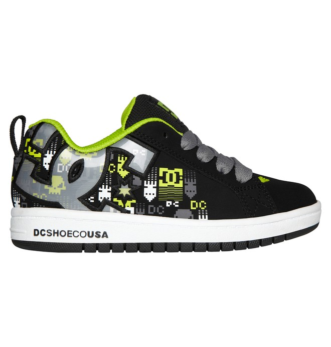 0 Kid's 4-7 Court Graffik SE Shoes Yellow 301131A DC Shoes