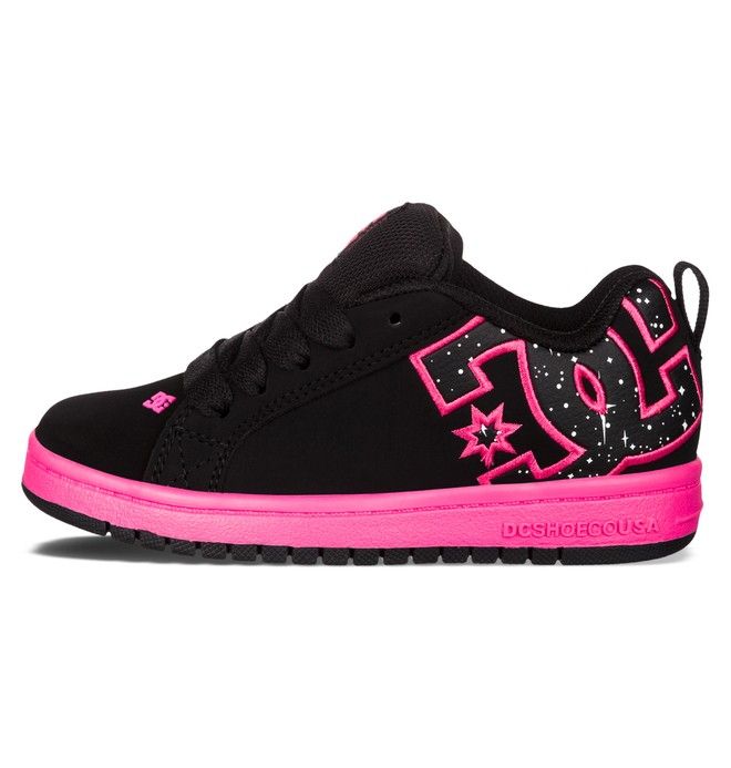 0 Kid's 4-7 Court Graffik SE Shoes Black 301131A DC Shoes