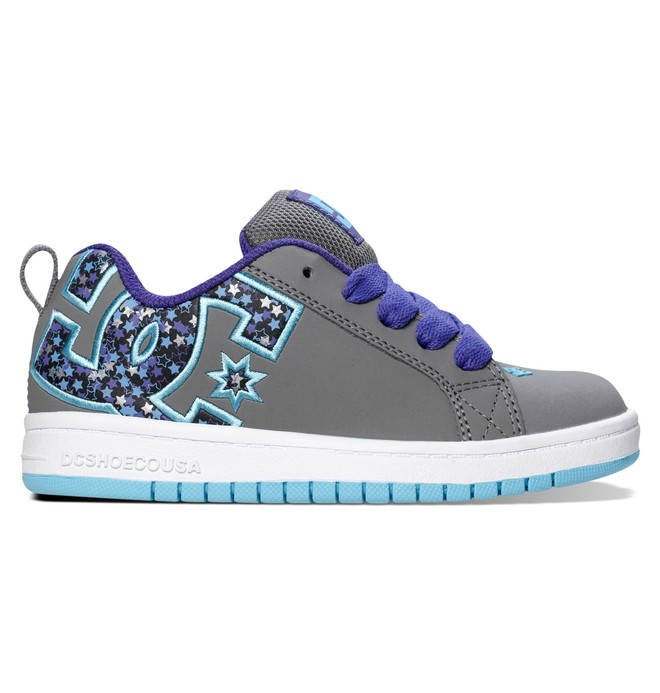 0 Kid's 4-7 Court Graffik SE Shoes Grey 301131A DC Shoes