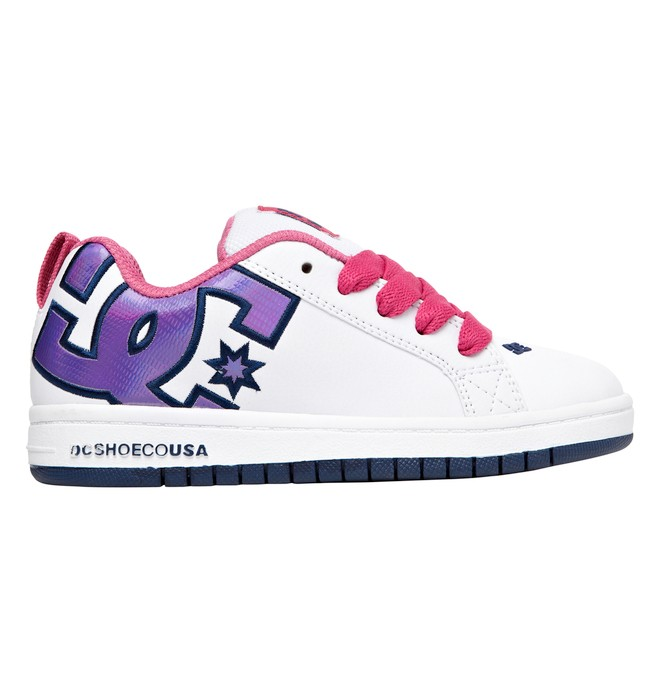 0 Boy's 4-7 Court Graffik SE Shoes White 301131A DC Shoes