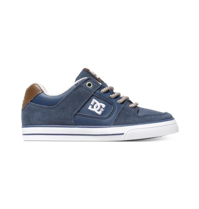 0 Kid's 4-7 Pure SE Shoes Blue 301344A DC Shoes