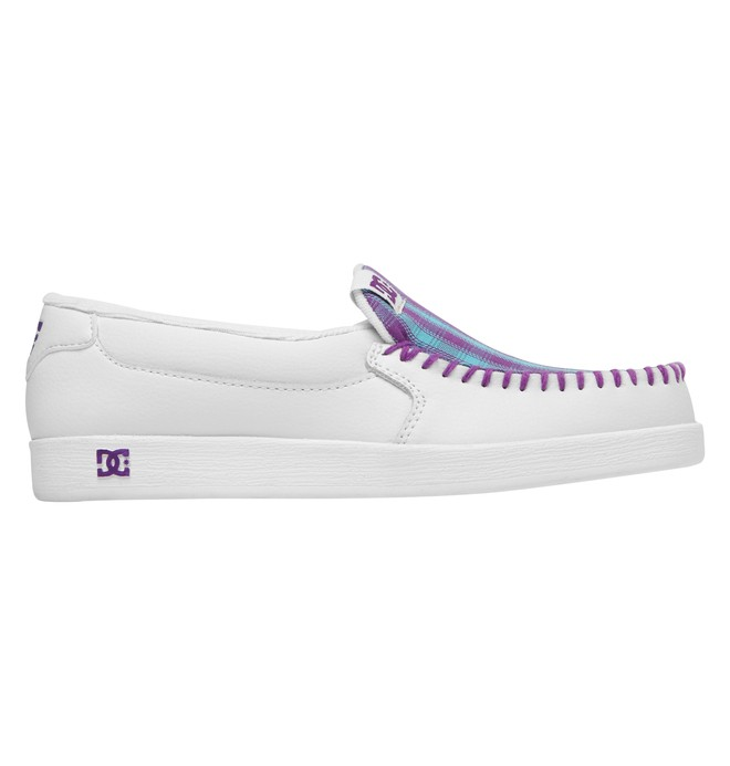 0 Women's Villain Shoes White 301360 DC Shoes