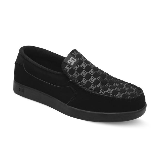 0 Men's Villain Slip-On Shoes Black 301361 DC Shoes