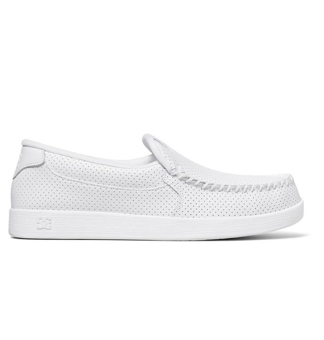 0 Men's Villain Slip-On Shoes White 301361 DC Shoes