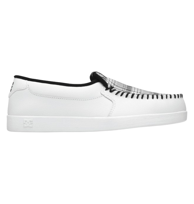 0 Men's Villain Slip-On Shoes White 301361 DC Shoes