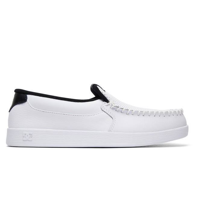 0 Men's Villain Slip On Shoes White 301361 DC Shoes