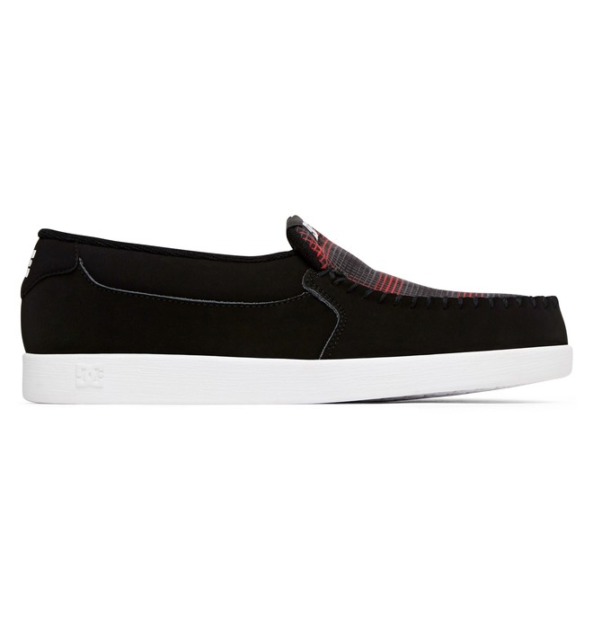 0 Men's Villain Slip-On Shoes Black 301361 DC Shoes