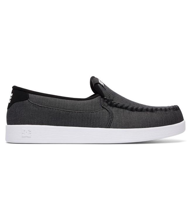 0 Men's Villain TX Slip On Shoes Black 301815 DC Shoes