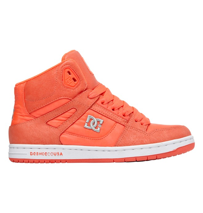 0 Women's Rebound High Shoes Pink 302164 DC Shoes