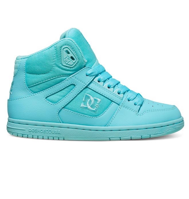 0 Women's Rebound High Shoes Blue 302164 DC Shoes