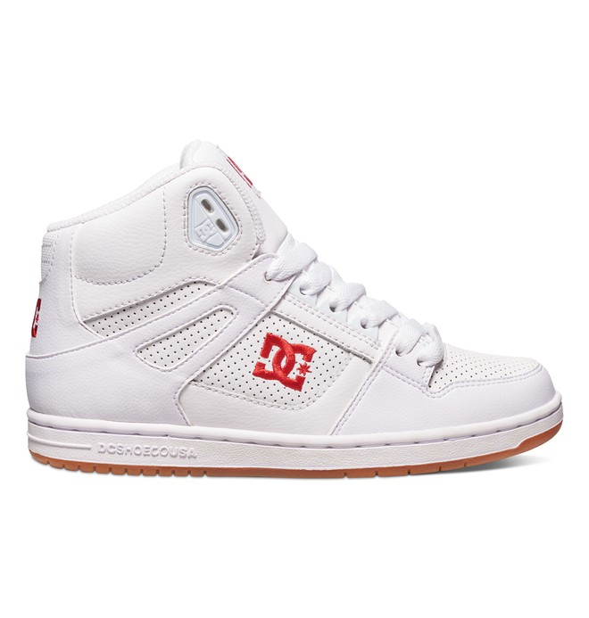 0 Women's Rebound High Shoes White 302164 DC Shoes
