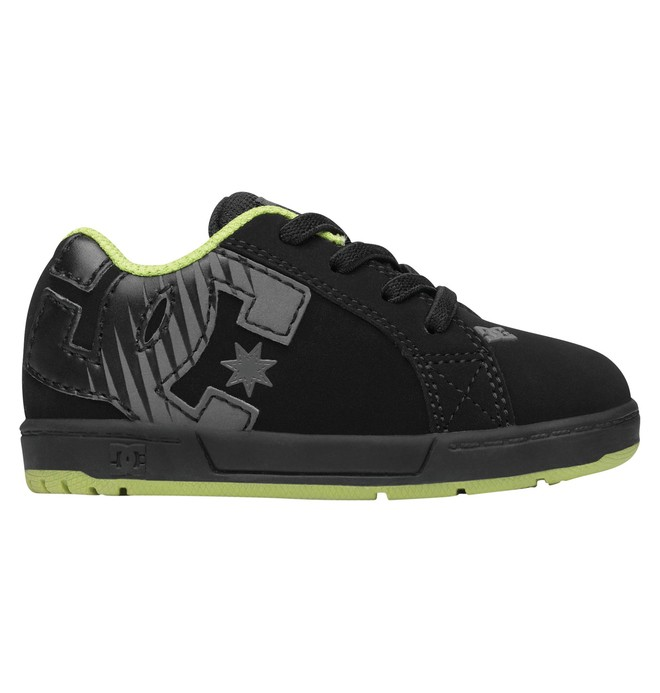 0 Toddler Court Graffik Elastic Shoes Black 302524 DC Shoes