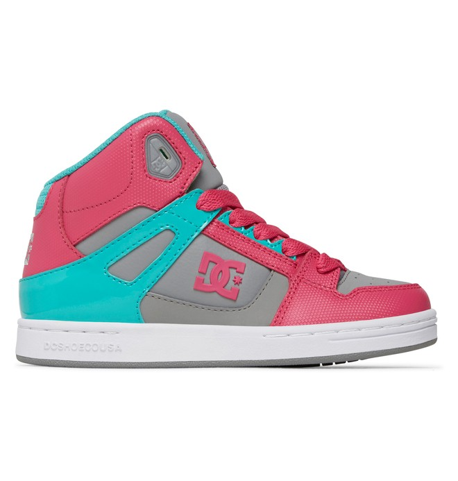 0 Kid's 4-7 Rebound High-Top Shoes Pink 302676A DC Shoes