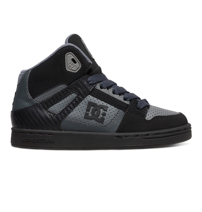 0 Kid's 4-7 Rebound High-Top Shoes Grey 302676A DC Shoes