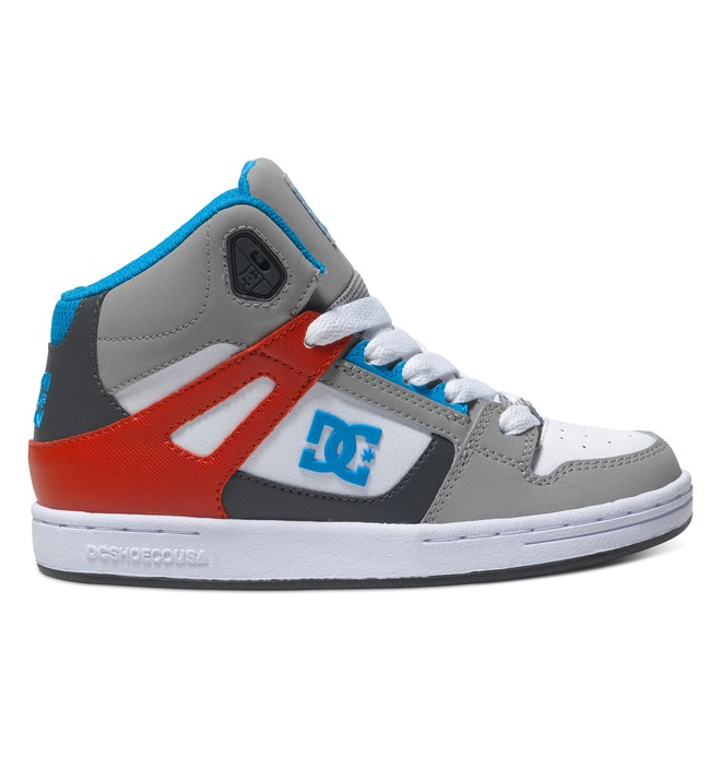 0 Boy's 4-7 Rebound High-Top Shoes Grey 302676A DC Shoes